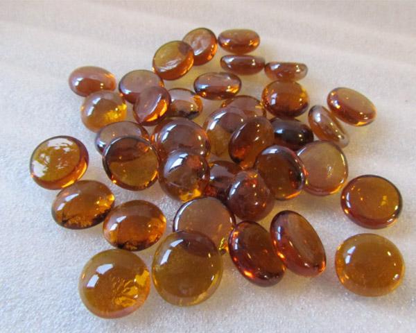 Mooie amberkleurige glaskralen