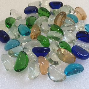 Mixed Coloured Glass Pebbles