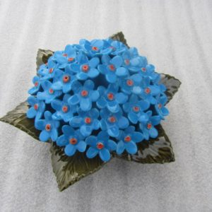 Ceramic Blue Myosotis Flower for Graves. 17cm