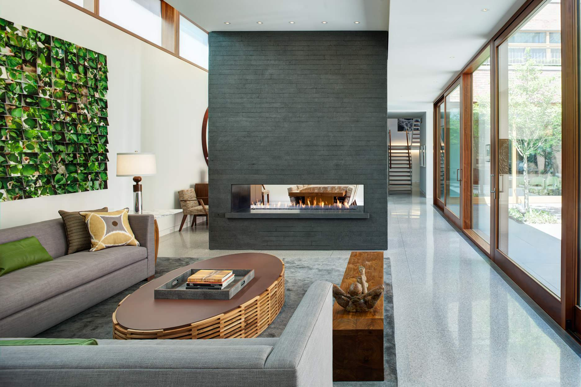 Terrazzo Floor in a modern open plan living room