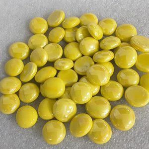 Yellow Porcelain Beads