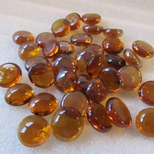 Beautiful amber glass beads