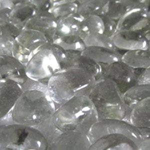 Close-up shot of Midland Stone clear glass pebbles