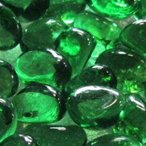 Close-up of bottle green pebbles