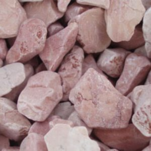 Beautiful coral pink chippings