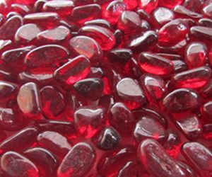 Beautiful Red glass pebbles from Midland Stone