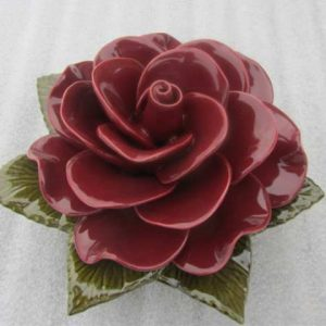 Ceramic Rose Grenat