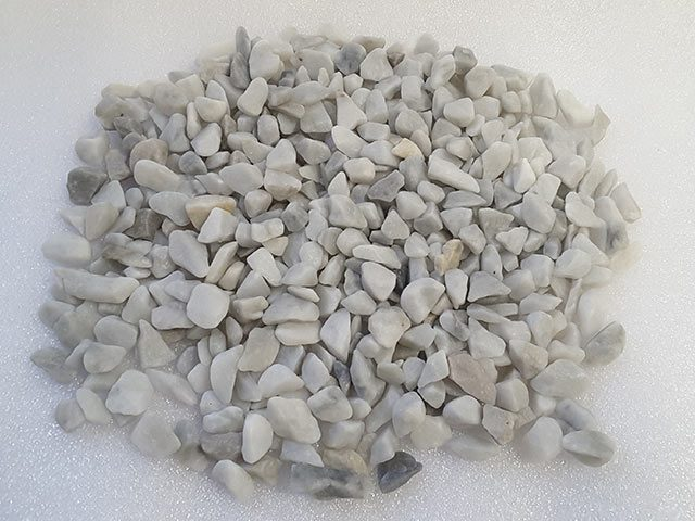 Carrara White Marble Chippings