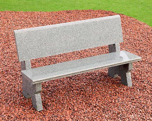 Granite Stone Garden Bench