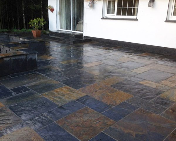 Chinese Slate Paving with wall surrounding