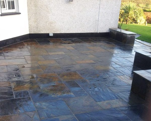 Chinese Slate Paving at the side of house