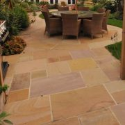 Beautiful Modak Circle Paving Stone with garden furniture and BBQ
