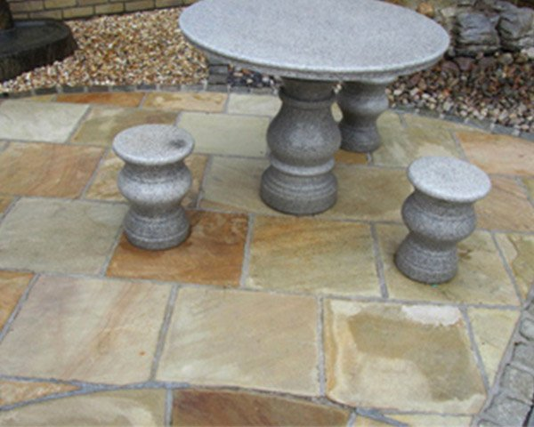 Natural Paving Stone with Granite Furniture set