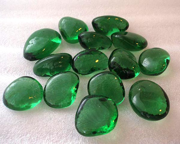 Bottle Green Glass Pebbles Midland Stone
