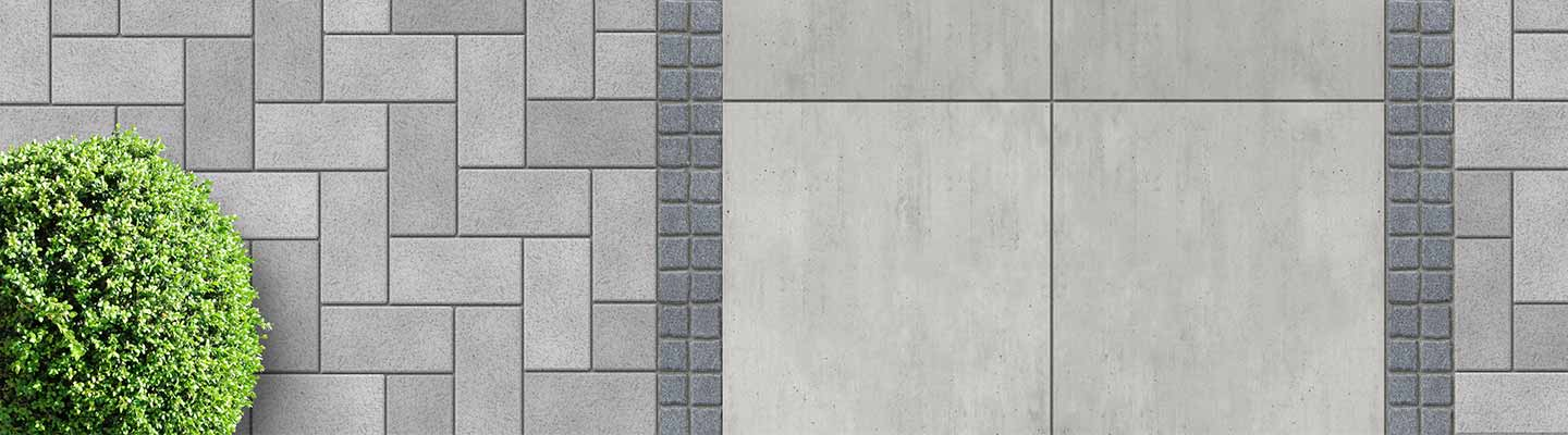 Grey Paving stones in range of patterns