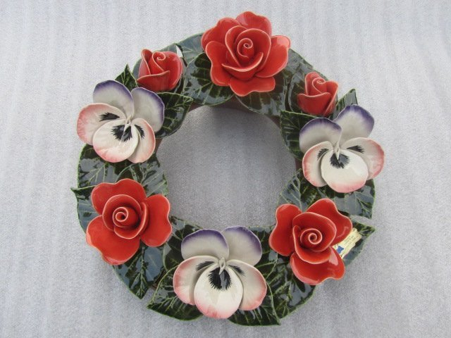 Wreath Rose Pensees used for Grave