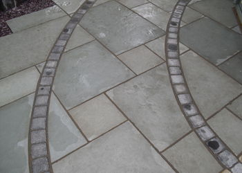 Grey Paving slabs with pathway