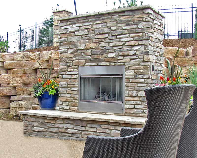 Building Stone used for Garden Fireplace