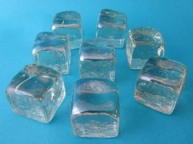 Ice Cube Glass Pebbles MSKU2006