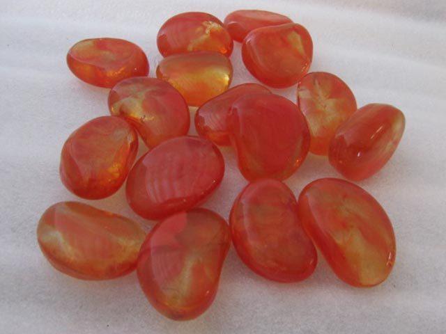 Orange Glass Pebbles