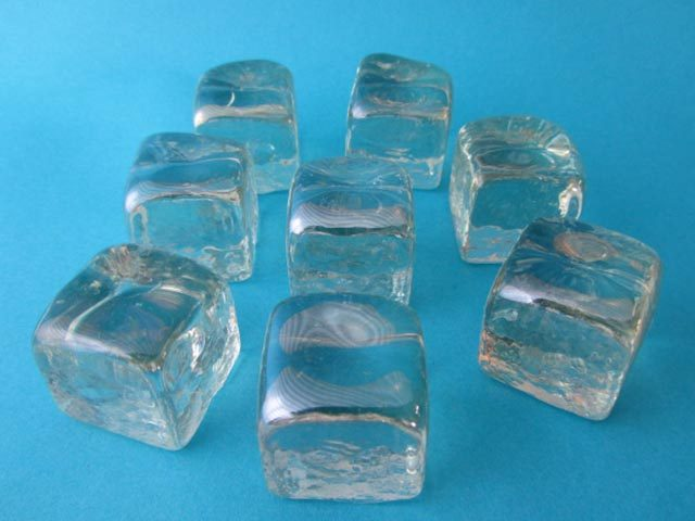 Ice Cube Glass Pebbles