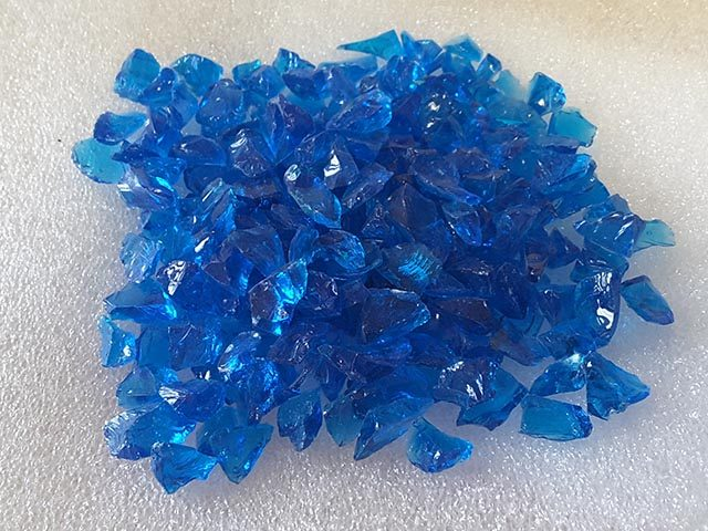 Sea Blue Glass Chippings