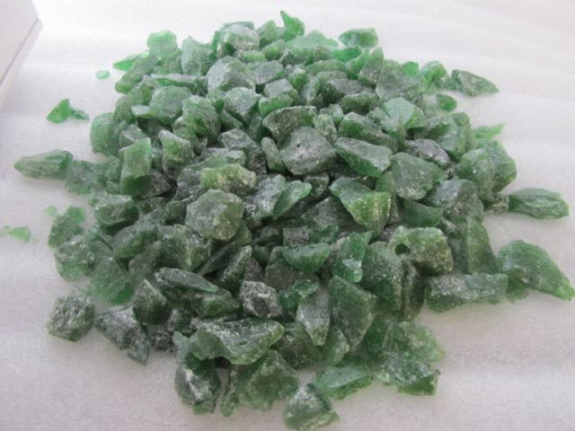 Green Recycled Glass Chippings