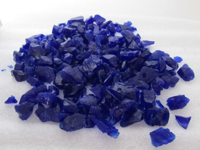 Ink blue Recycled Glass Chippings