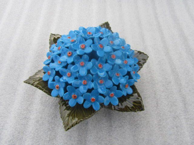 Ceramic Blue Myosotis Flower for Graves. 17cm