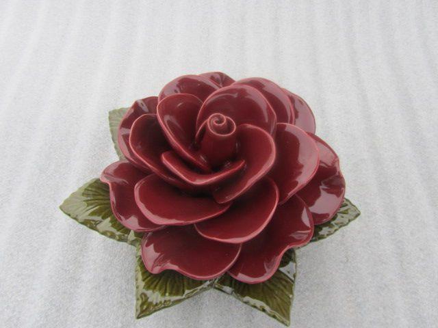 Ceramic Grena Rose for Graves 20cm